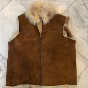 Jackets & Blazers - Genuine shearling vest, reversible